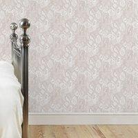 folk print wallpaper grey