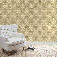 gold deco fan wallpaper gold