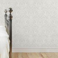 dorma arts and crafts wallpaper grey