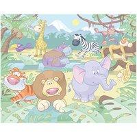 walltastic baby jungle safari 8ftx10ft mural multi coloured