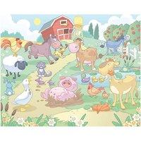 walltastic baby fun on the farm 8ftx10ft mural multi coloured