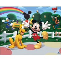 walltastic disney mickey mouse clubhouse 8ftx10ft mural multi coloured