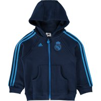 Real Madrid 3 Stripe Full Zip Hoody - Infants