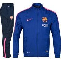 Barcelona Squad Sideline Woven Warm Up Tracksuit Royal Blue