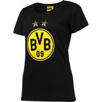 BVB Large Crest T-Shirt - Black - Womens