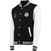 Chelsea UEFA Champions League Varsity Baseball Jacket - Black - Mens
