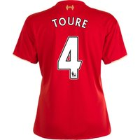 Liverpool Home Shirt 2015/16 - Womens Red with Toure 4 printing