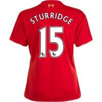 Liverpool Home Shirt 2015/16 - Womens Red with Sturridge 15 printing
