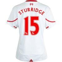 Liverpool Away Shirt 2015/16 - Womens White with Sturridge 15 printing