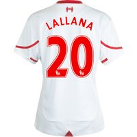 Liverpool Away Shirt 2015/16 - Womens White with Lallana 20 printing