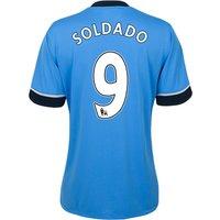 Tottenham Hotspur Away Shirt 2015/16 - Womens Sky Blue with Soldado 9 printing