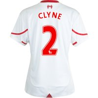 Liverpool Away Shirt 2015/16 - Womens White with Clyne 2 printing