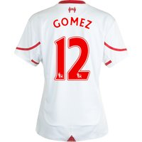 Liverpool Away Shirt 2015/16 - Womens White with Gomez 12 printing