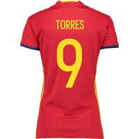 Spain Home Shirt 2016 - Womens Red with Torres 9 printing