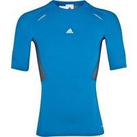 Adidas TechFit Preperation Top - Short Sleeve - Bright Blue