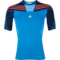 Adidas TechFit Preperation Top - Short Sleeve - Bright Blue/Collegiate Navy/Infrared