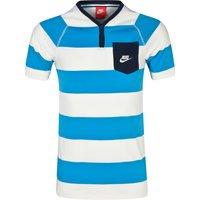 Nike GF Y-Neck Henley Top Blue