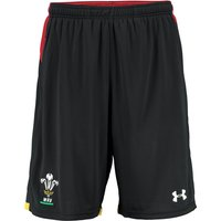Wales Rugby 9in Mesh Short 15/16 Black