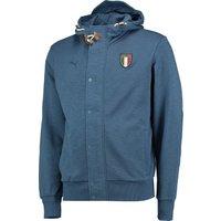 Italy Azzurri Zip Through Hoody Blue