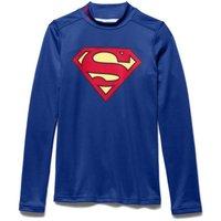 Under Armour Superman Alter Ego Coldgear Mock Baselayer Top - Kids Royal Blue