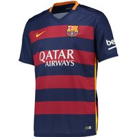 Barcelona Home Shirt 2015/16 - Kids Blue