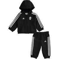 Juventus 3 Stripe Baby Jog Suit Black