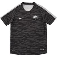 AS Roma Flash Short Sleeve Training Top - Kids Black