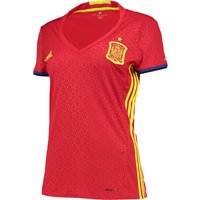 Spain Home Shirt 2016 - Womens Red