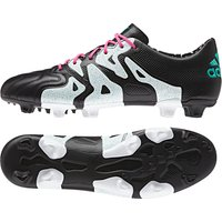 adidas X 15.1 Firm Ground Football Boots Leather Black