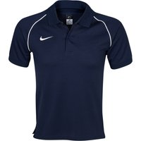 Nike Team Polo - Obsidian/White