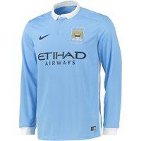 Manchester City Home Shirt 2015/16 - Long Sleeve Sky Blue