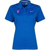 Manchester United Nike Golf Polo - Womens Royal Blue