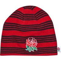 England Acrylic Stripe Beanie Red