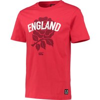 England Rugby Rose T-Shirt Red