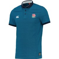 England Striped Polo Blue
