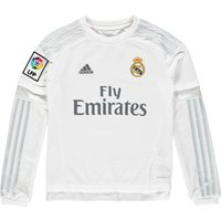 Real Madrid Home Shirt 2015/16 - Long Sleeve - Kids - White