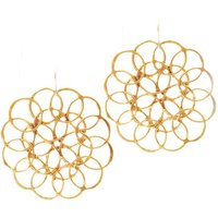 Limited Edition Believer Jewellery by Inkana Recycled Brass Fibonacci Earrings
