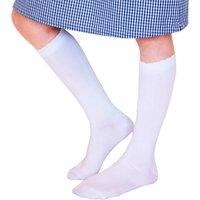 Organic Cotton Knee High School Socks - White