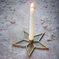 Natema Star Candle Stick - Brass