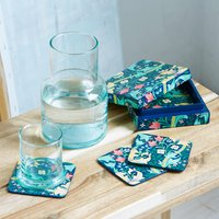 William Morris Toopan Hand Painted Coaster Set - Set Of 6