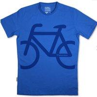 Silverstick Mens Bike Organic Cotton T-Shirt - Atlantic Blue