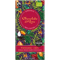 Chocolate & Love Organic & Fairtrade Panama 80% Dark Chocolate Bar - 80g