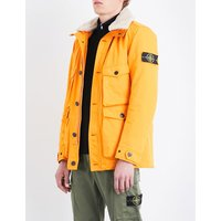 David shearling-trim quilted coat