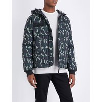 Camouflage shell-down jacket
