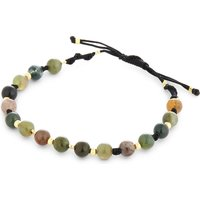 Moss agate braided bracelet