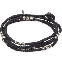 M. Cohen Knotted bead wrap bracelet, Mens, Size: M, Black
