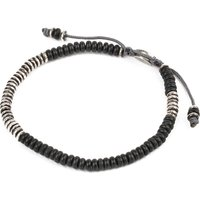 M. Cohen Beaded Gemstone Bracelet, Mens, Size: M, Frosted black