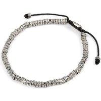 M. Cohen Oxidised Fish Bone Bracelet, Mens, Size: M, Black