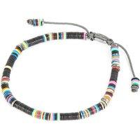 M. Cohen African vinyl disc bracelet, Mens, Size: M, Black