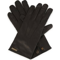 House check leather gloves
